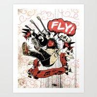 FLY! Art Print