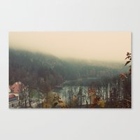 Overlooking The Lake Col… Canvas Print