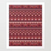 CRYSTAL AZTEC   Art Print