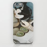 iPhone & iPod Case featuring Kiwi fruit & Lillies by Helen Syron