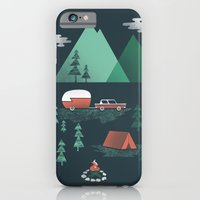 iPhone & iPod Case featuring Pitch a Tent by Jenny Tiffany