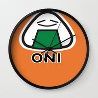 Oni the Onigiri, Kawaii Wall Clock