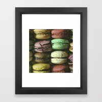 Macarons - Food Kitchen Photography Framed Art Print