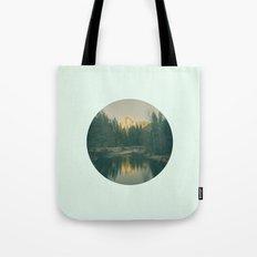 Mint Mountain Vignette Tote Bag