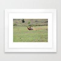 Rolling Horse Framed Art Print