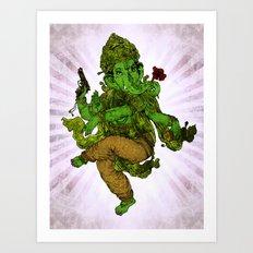 Ganesh Ecstasy Art Print