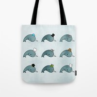 The Many Hats Of Narwhal… Tote Bag