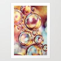 Bokeh Sparkles Bubble Ab… Art Print