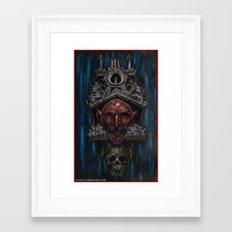 Nosferatu Clock Framed Art Print