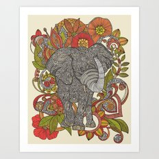 Bo the elephant Art Print