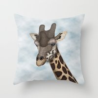Giraffe Fun Throw Pillow
