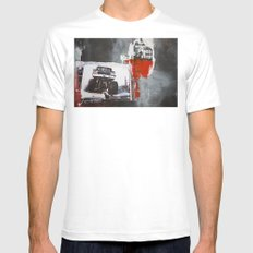 Bigfoot SMALL White Mens Fitted Tee