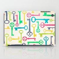 Colorful Vintage Keys iPad Case