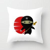 NINJA STAR Throw Pillow