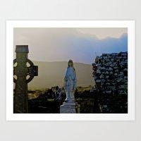 Corcomeroe Abbey, County… Art Print