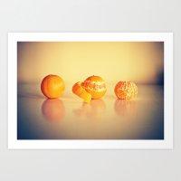 Fruit Orange Clementines Art Print