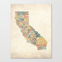 California by County Canvas Print