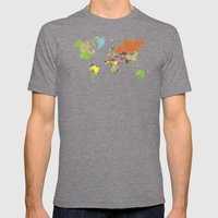 The World Goes Round & R… Mens Fitted Tee Tri-Grey SMALL