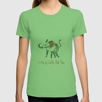 I Will Be Lucky For You. Womens Fitted Tee Grass SMALL