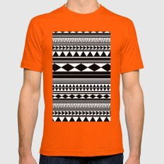 Tribal #5 Mens Fitted Tee Orange SMALL
