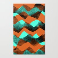 Paper collage and digital zig zags. Canvas Print