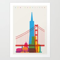 Shapes Of San Francisco.… Art Print