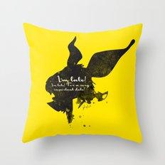 I'm late! – White Rabbit Silhouette Quote Throw Pillow