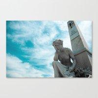 Sky/Statue#2 Canvas Print
