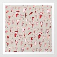 Letter Patterns, Part F Art Print