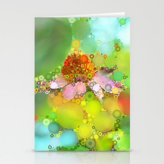 Pink Flower of Summer Stationery Card