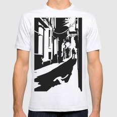 Dark Alley Mens Fitted Tee Ash Grey SMALL