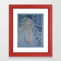 Winter Lace Framed Art Print