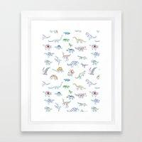 jurassic dino Framed Art Print