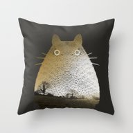 Throw Pillow featuring My Neighbor by Fimbis