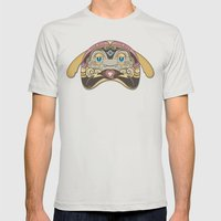 RUFUS (has A Heart That … Mens Fitted Tee Silver SMALL