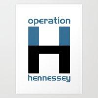 Operation H Art Print