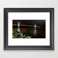 Mid-hudson Bridge Framed Art Print