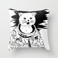 Lolcatronaut Throw Pillow