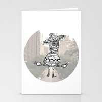 sombrero city party Stationery Cards