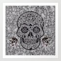 Mosaic Skull Art Print