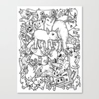 counting pigs Canvas Print