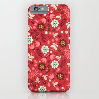 Fresh Blossoms (Reds) iPhone 6 Slim Case