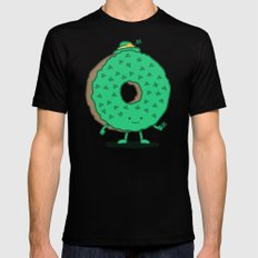 The St Patricks Day Donut Mens Fitted Tee SMALL Black