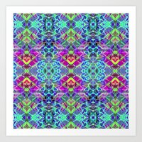 Fractal Art Stained Glas… Art Print