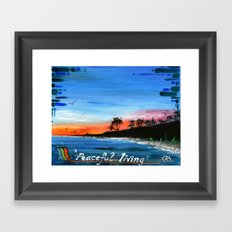 """PEACEFUL LIVING""  Framed Art Print"