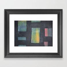 Light behind Black Framed Art Print