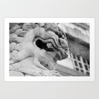 Chinese Dragon Statue Art Print