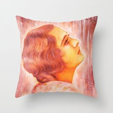 Heading for a fall (Vintage Portrait) Throw Pillow