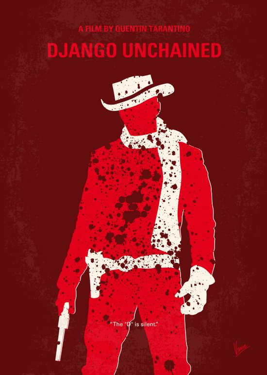 No184 My Django Unchained minimal movie poster Art Print