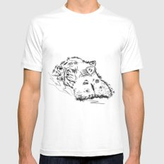 Hippo SMALL White Mens Fitted Tee